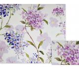 Nekupto Darčekový baliaci papier 70 x 150 cm Fialové kvety