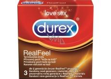 Durex Real Feel kondomy pro přirozený pocit kůže na kůži Nominální šířka: 56 mm 3 kusy