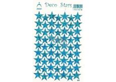 Arch Holografické dekoračné samolepky modrej Hviezdičky 1 arch