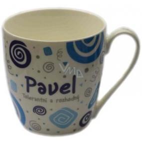 Nekupto Twister hrnček s menom Pavel modrý 0,4 litra