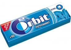 Wrigleys Orbit Peppermint žuvačky bez cukru dražé 10 kusov 14 g