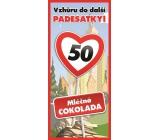 Bohemia Gifts Mliečna čokoláda Všetko najlepšie 50, darčeková 100 g