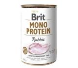 Brit Mono Proteín Králik 100% čistý králičie proteín Kompletné krmivo pre psov 400 g