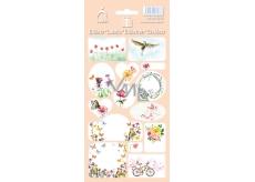 Arch Samolepky do domácnosti, na darčeky Kvety ružové 3586 14 etikiet