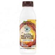 Garnier Fructis Smoothing Macadamia Hair Food hydratačný kondicionér pre hladký účes na suché, nepoddajné a krepaté vlasy 350 ml