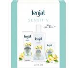 Fenjal Sensitive sprchový gél 200 ml + krém na ruky 75 ml + krémové toaletné mydlo 100 g, kozmetická sada