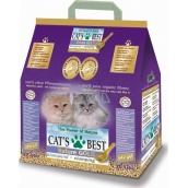 Cats Best Nature Gold hrudkujúca podstielka z dreva, pre dlhosrsté plemená mačiek 10 l