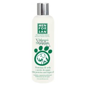 MenForSan Hodvábne protejny a Arganový olej prírodné šampón pre psov 300 ml