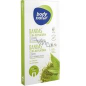 Body Natur Matcha čaj epilačný voskové pásky na telo pre normálnu a suchú pokožku 16 kusov + poepilačné obrúsky 2 kusy