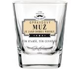 Nekupto Liga Pravých Džentlmenov Whisky pohár Naozajstný muž je ako dobrá whisky - Čím starší, tým cennejšie 200 ml