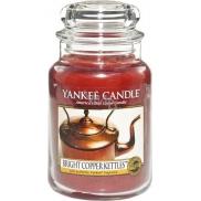 Yankee Candle Bright Copper Kettles - Lesklé měděné konvice vonná svíčka Classic velká sklo 623 g