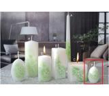 Lima Kvetinová sviečka zelená vajíčko malé 60 x 90 mm 1 kus