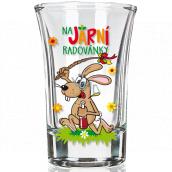 Nekupto Smích Jarní panáček skleněný dárkový velikonoční panák Na jarní radovánky 40 ml