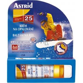 Astrid F25 Opalovací pleťový krém + balzám na rty 4 g