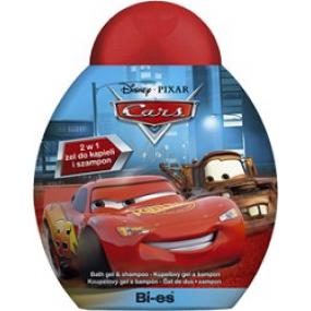 Disney Cars McQueen 2v1 sprchový gél do kúpeľa a šampón 250 ml