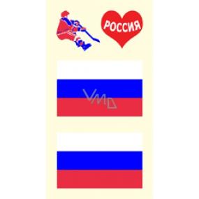 Arch Tetovací obtisky na obličej i tělo Ruská vlajka 3 motiv