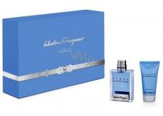 Salvatore Ferragamo Acqua essenziale toaletná voda pre mužov 50 ml + sprchový gél 50 ml, darčeková sada