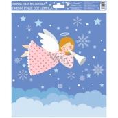 Room Decor Okenné fólie bez lepidla veselí anjelici farební 1. Ružový anjelik 29,5 x 24 cm