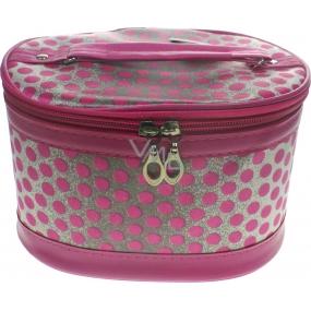 Kozmetický kufrík bodka ružový 17 x 12 x 10 cm 70390