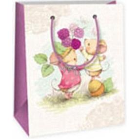 Ditipo Darčeková papierová taška 11,4 x 6,4 x 14,6 cm 2 myšky
