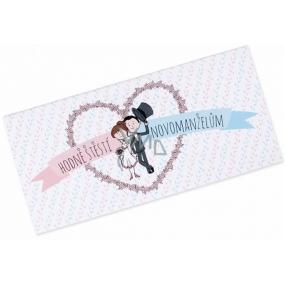 Albi Čokoláda s vreckom na peniaze Svadobné Veľa šťastia 15,4 cm × 7,3 cm × 1 cm 85 g
