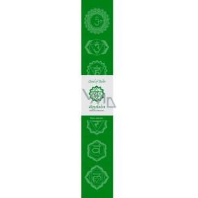 Vonné tyčinky Štvrtá čakra Zelená 14 kusov
