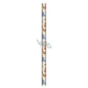 Ditipo Vianočný baliaci papier pre deti béžový stromček, zvieratká 100 x 70, 2 kusy
