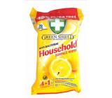 Green Shield Household Surface Wipes Citron 4v1 pre domácnosť antibakteriálne čistiace vlhčené obrúsky 70 kusov