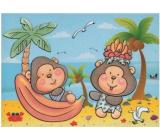 Maľovanie vodou sa štetcom Opičky 20 x 15 cm